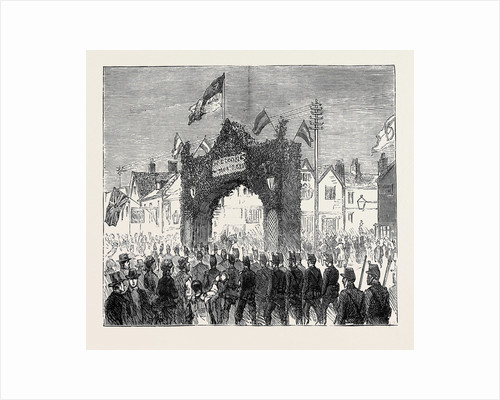 The Volunteer Review at Dunstable on Easter Monday: The Triumphal Arch, High Street by Anonymous