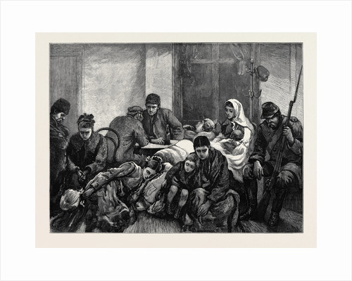 The Russo-Turkish War, Opening of the Campaign in Europe: Families Migrating from Ibraila, Waiting for the Midnight Train by Anonymous