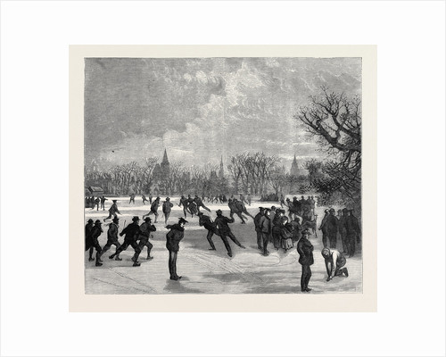 Skating at Oxford, 1870 by Anonymous
