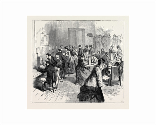 Telegraph Instruction at the General Post Office Building in St. Martin's-Le-Grand, 1870 by Anonymous