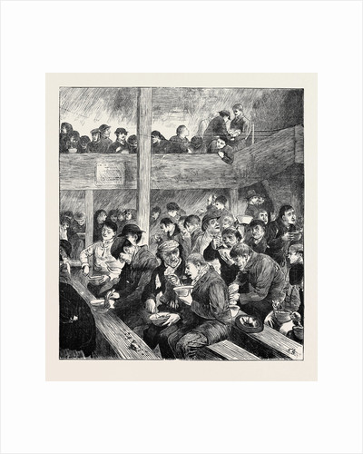 Sketch at Ned Wright's Thieves' Supper, 1870 by Anonymous