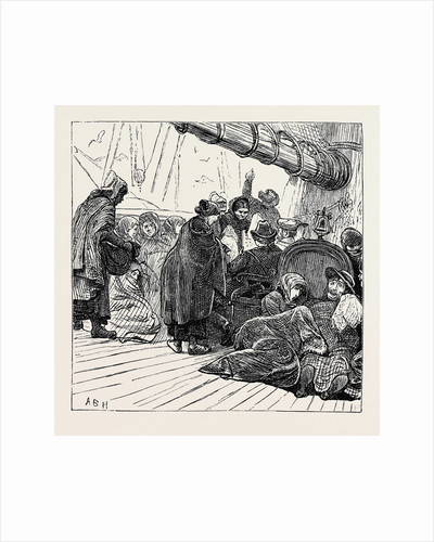 On the Atlantic Steamer: Off Queenstown, 1870 by Anonymous
