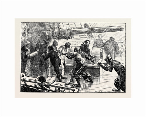 On the Atlantic Steamer: A Cast of the Log, 1870 by Anonymous