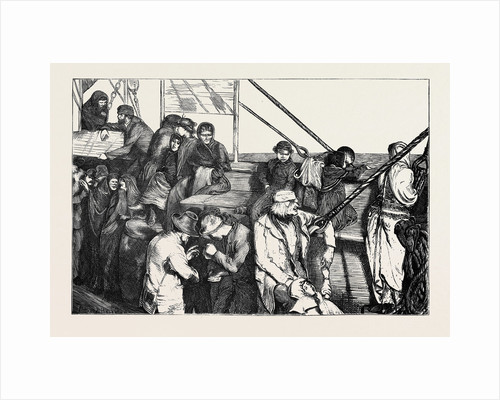 On the Atlantic Steamer: Steerage Emigrants, 1870 by Anonymous