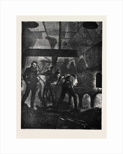 On the Atlantic Steamer: The Stoke Hole, 1870 by Anonymous