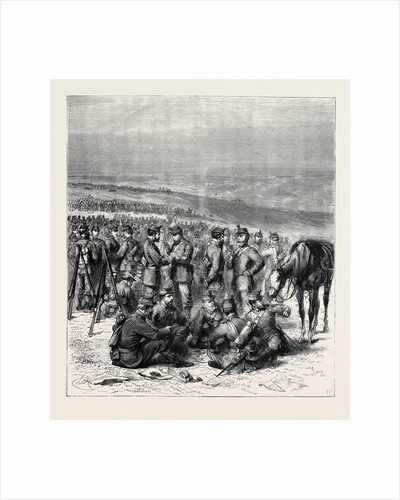 The Volunteer Review at Brighton, Stand Easy, 1870 by Anonymous