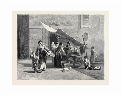 A Spanish Flower Stall, 1870 by Anonymous