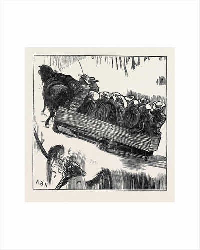 A Shaker Sleighing Party, 1870 by Anonymous