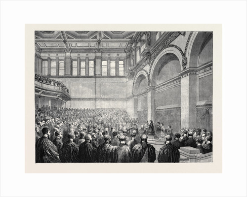 The Theatre of the New London University Buildings, the Opening Ceremony, 1870 by Anonymous