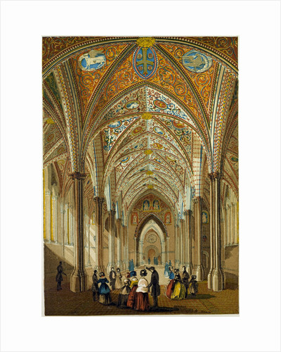 Interior of the Temple Church UK by Anonymous