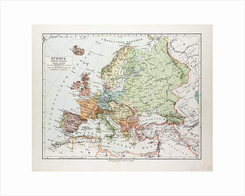 Map of Europe 1899 by Anonymous
