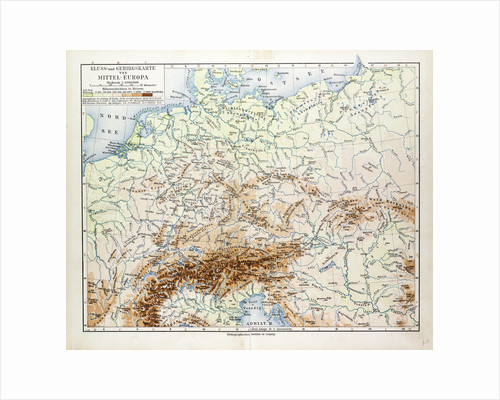 Map of Central Europe 1899 by Anonymous