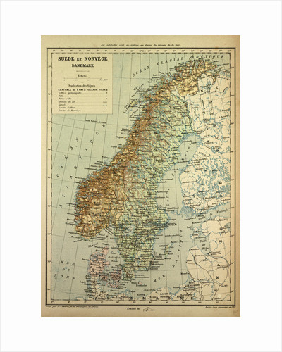 Map of Sweden Denmark and Norway by Anonymous