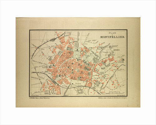 Map of Montpellier France by Anonymous