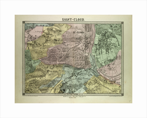 Map of Saint-Cloud France by Anonymous