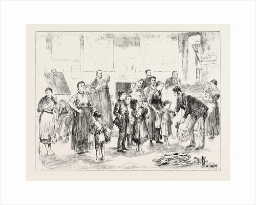 Clothing Poor Children in a West of Ireland Schoolhouse. by Anonymous