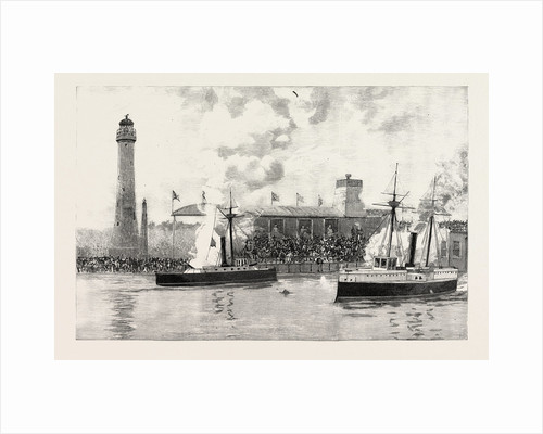 Naval Action Between Model Ships at the Royal Naval Exhibition. by Anonymous
