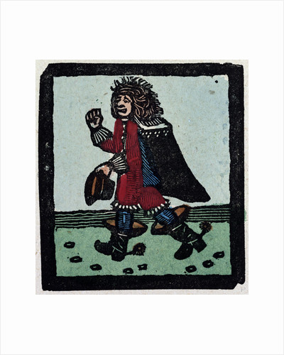 Illustration of English Tales Folk Tales and Ballads. A Man Wearing Red Clothes a Cape and Black Boots by Anonymous