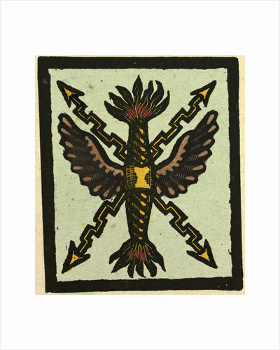Illustration of English Tales Folk Tales and Ballads. Ornament. Wings Arrows and Fire by Anonymous