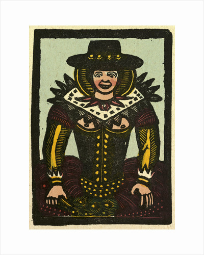 Illustration of English Tales Folk Tales and Ballads. A Woman Colourful Clothing by Anonymous