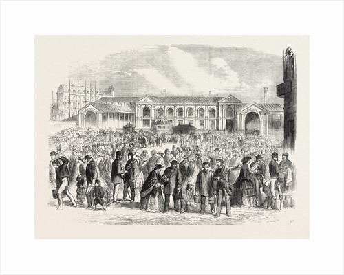 View of British Excursionists to Paris: Excursionists Leaving the Paris Station of the Great Northern Railway by Anonymous