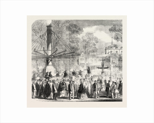 British Excursionists in the Champs Elysées: The Wooden Horses France by Anonymous