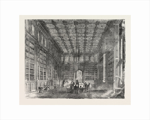 The New Houses of Parliament: Library of the House of Commons UK 1854 London by Anonymous