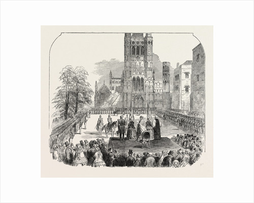 Presentation of Colours to the Cambridgeshire Militia at Ely 1854 by Anonymous