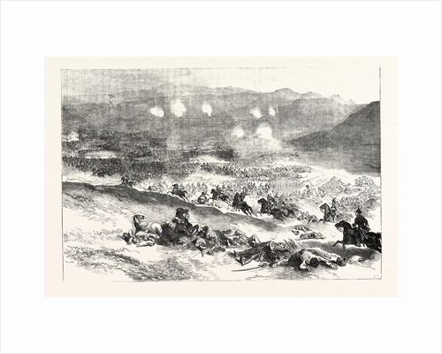 The Crimean War: The Action at Balaclava October 25. First Charge of Heavy Cavalry 1854 by Anonymous