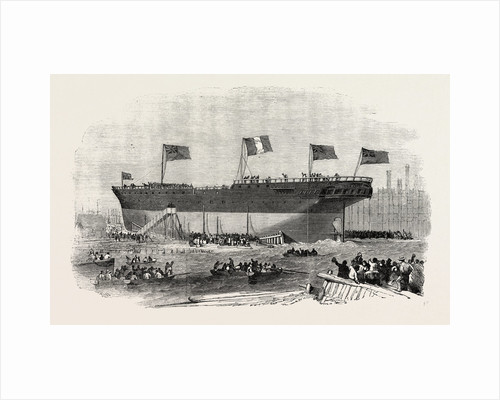 Launch of the Vittorio Emanuele Iron Screw Steamer at Blackwall 1854 by Anonymous