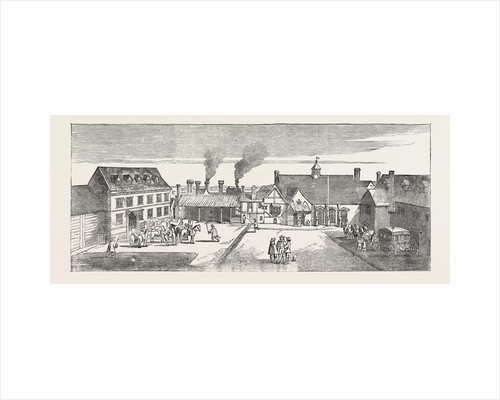 Fire in the Strand Site of Arundel House: North View of Arundel House in 1646 London UK by Anonymous
