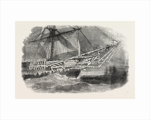 Cold Weather in the Baltic: Bows of H.M. Corvette Cruiser. 1854 by Anonymous