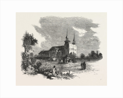 The Canadian Red River Exploring Expedition: St. Boniface Cathedral, Red River, 1858 by Anonymous