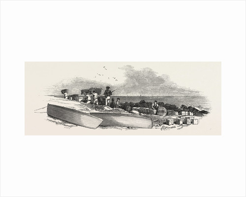 Removal of the Ship's Stores from the Landing Place to the Coast Guard Station, 1846 by Anonymous