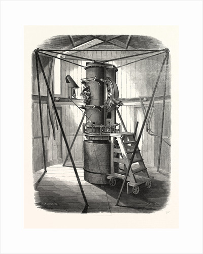Perspective View of the Altitude and Azimuth Instrument at the Royal Observatory, Greenwich, London, 1847 by Anonymous