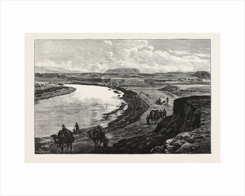 The Afghan Boundary: Junction of the Murghab and Kushk Rivers, Ak-Tapa in the Distance, 1885 by Anonymous