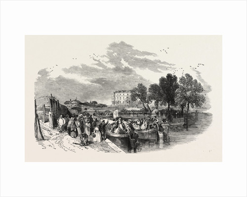 Pleasure Canal Boats, Sketched at the Paddington Basin, 1849 by Anonymous