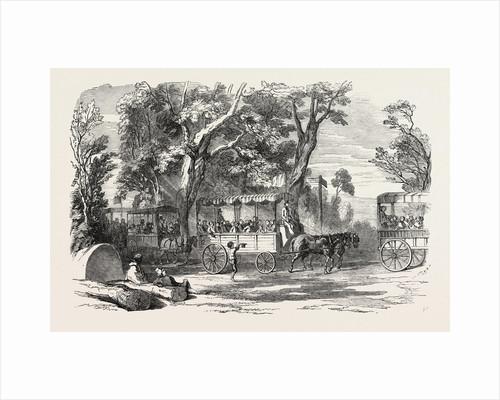 Pleasure Vans. School Children's Hampton-Court Holiday, 1849 by Anonymous