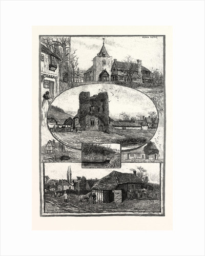 Rambling Sketches: A Kentish Village: Otford, 1885 by Anonymous