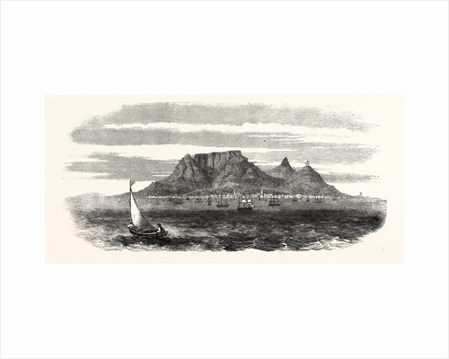 Table Bay and Table Mountain, Cape of Good Hope, 1860 by Anonymous