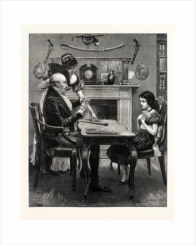 A Game at Cribbage, 1883 by Anonymous