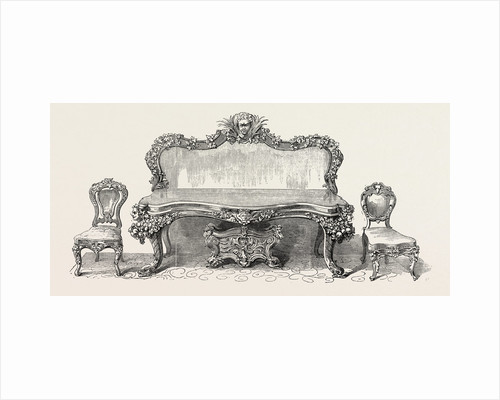 Sideboard and Chairs. 1851 by Anonymous