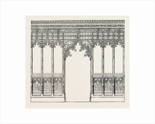 Gothic Screen. By Bingham, Ipswich. 1851 by Anonymous