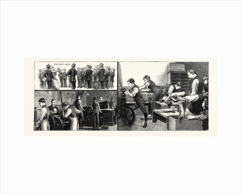 The Anniversary of the Little Boys' Homes at Farningham and Swanley the Home at Farningham: The Printing Office the Boys' Band, the Carpenters' Shop by Anonymous