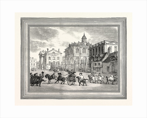 View of the Sheldonian Theatre Printing House Etc. At Oxford Broad Street UK by Anonymous
