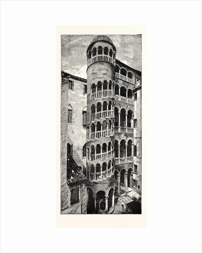 Staircase of the Fifteenth Century: Contarini Palace Venice by Anonymous