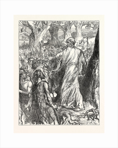 Druids Inciting the Britons to Oppose the Landing of the Romans by Anonymous