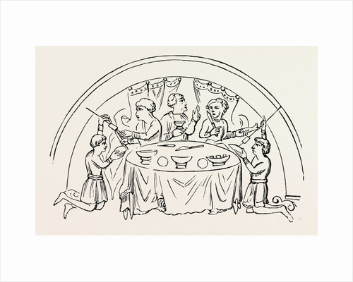 English Dinner Party by Anonymous