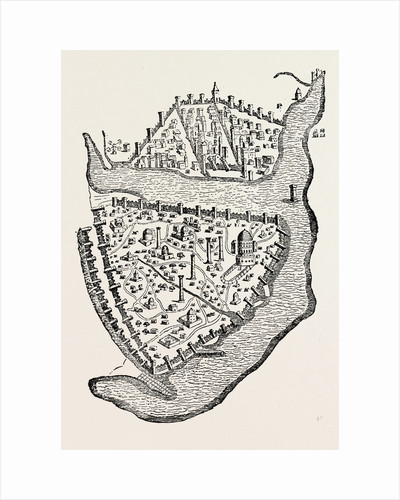 Bird's-Eye View of Christian Constantinople Istanbul by Anonymous