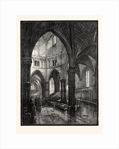 Interior of the Temple Church London by Anonymous